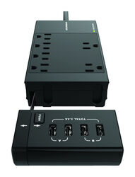 Monster  1080 J 4 ft. L 6 outlets Surge Protector