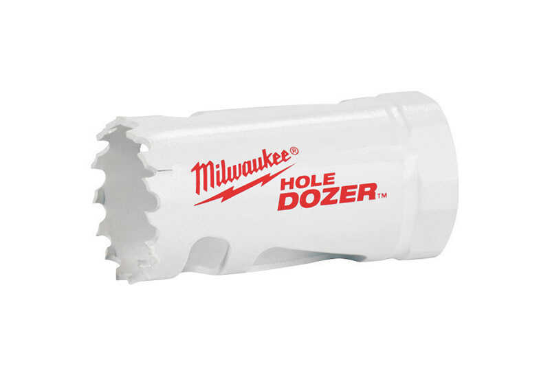 Milwaukee  Hole Dozer  1-5/8 in. Dia. x 1.9 in. L Bi-Metal  Hole Saw  1/4 in. 1 pc.
