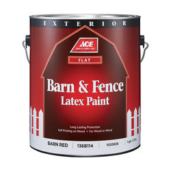 Ace Flat Barn Red Barn and Fence Paint Exterior 1 gal.