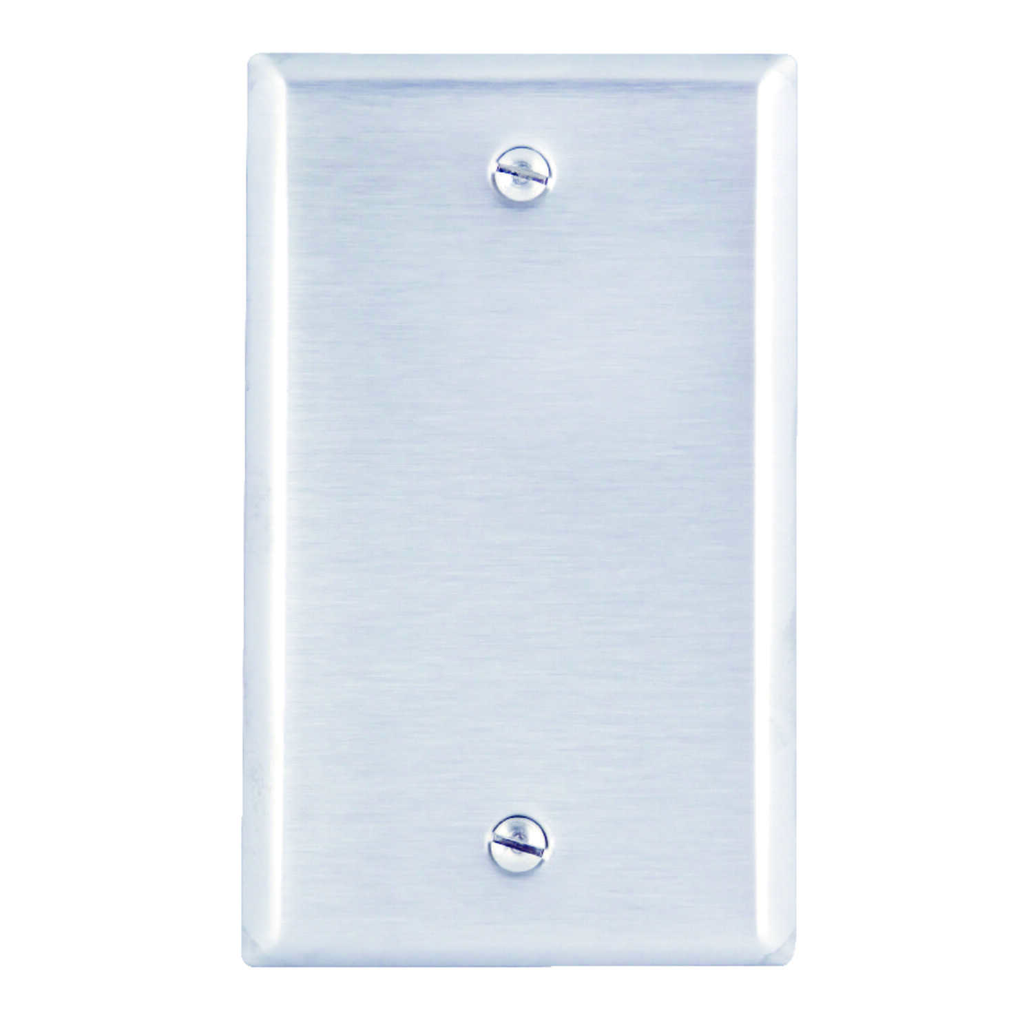 Leviton  Silver  1 gang Stainless Steel  Wall Plate  1 pk Blank