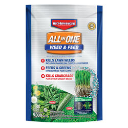 BioAdvanced Weed & Feed 22-0-4 Lawn Fertilizer 5000 sq. ft. For Multiple Grasses