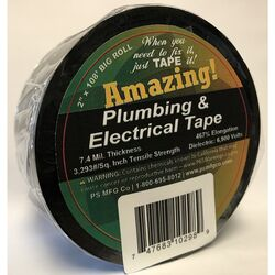 Amazing Tape  2 in. W x 108 ft. L Black  Plastic  Electrical Tape
