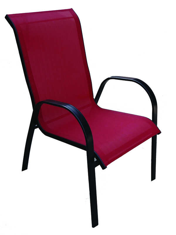 Living Accents Metropolitan Patio Furniture: Living Accents Sling Black Steel Chair