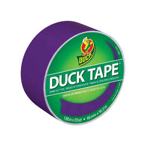 Duck  1.88 in. W x 20 yd. L Purple  Duct Tape