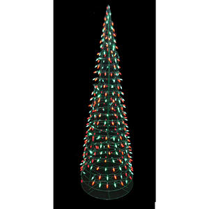 Celebrations  Cone Tree  Metal  1 pk Green