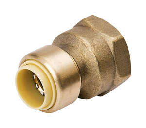 Mueller  3/8 in. Dia. x 1/2 in. Dia. Push To FPT  ProLine  Push-Fit  Reducing Adapter