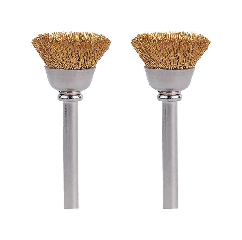 Dremel  1/2 in   x 1-3/4 in. L x 1/8 in. Dia. Metal  Brass Brush  2 pk