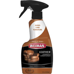Weiman  Lemon Scent Leather Cleaner And Conditioner  12 oz. Liquid