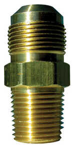 JMF  15/16 in. Flare   x 1/2 in. Dia. Male  Brass  Gas Adapter