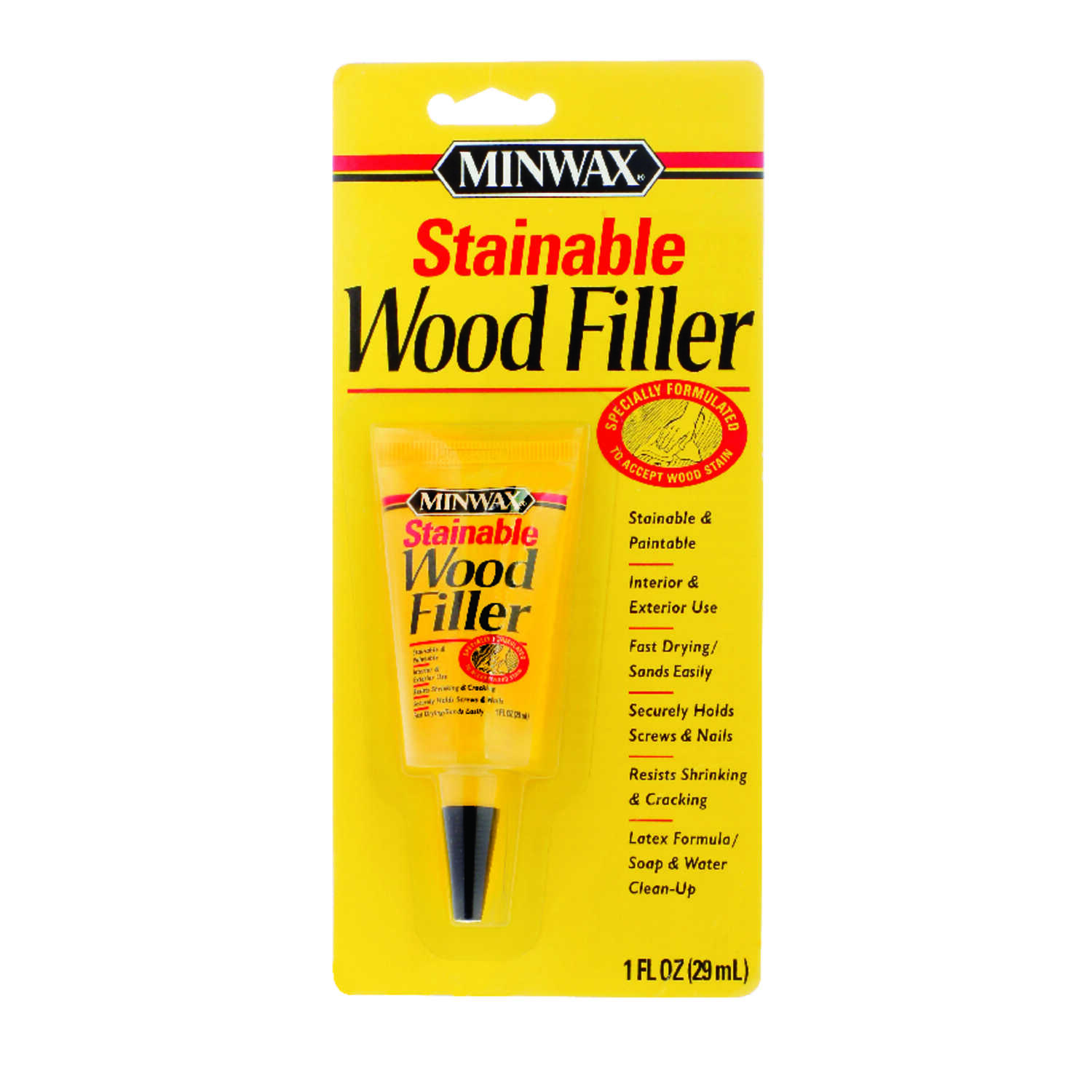 Minwax Natural Stainable Wood Filler 1 Oz Ace Hardware