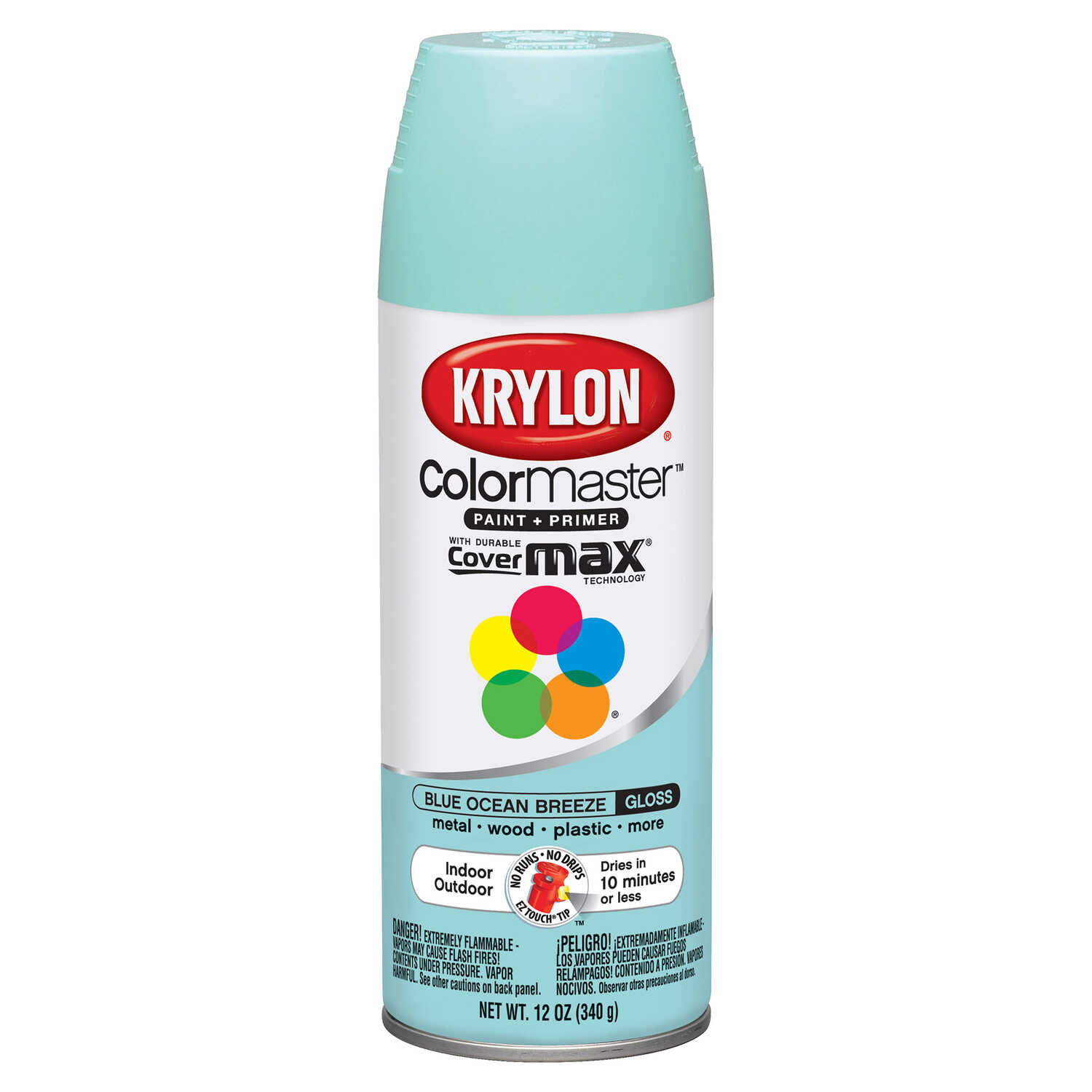 Krylon  ColorMaster  Gloss  Blue Ocean Breeze  Spray Paint  12 oz.
