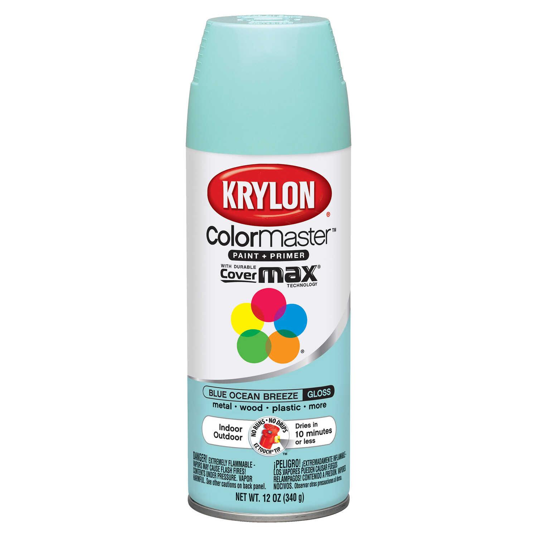 Krylon Colormaster Gloss Blue Ocean Breeze Spray Paint 12 Oz Ace Hardware