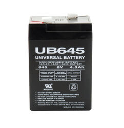 UPG 4.5 CCA 6 volt Lead Acid Automotive Battery