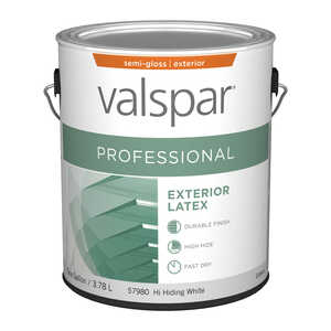 Valspar  Contractor Professional  Basic White  Acrylic Latex  1 gal. Semi-Gloss  Paint