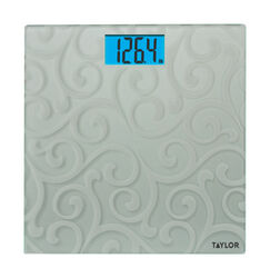 Taylor  400 lb. Digital  Bathroom Scale  Gray