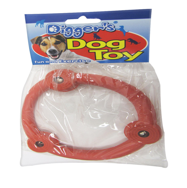 Boss Pet  Multicolored  Rubber  Retriever Ring  Large  Dog Toy
