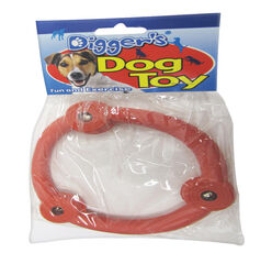 Boss Pet  Multicolored  Retriever Ring  Rubber  Dog Toy  Large