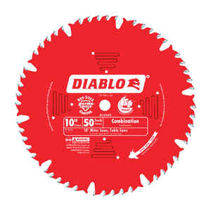 Diablo  10 in. Dia. x 5/8 in.  x 0.098 in.  Carbide Tip  Combination Saw Blade  50 teeth 1 pk