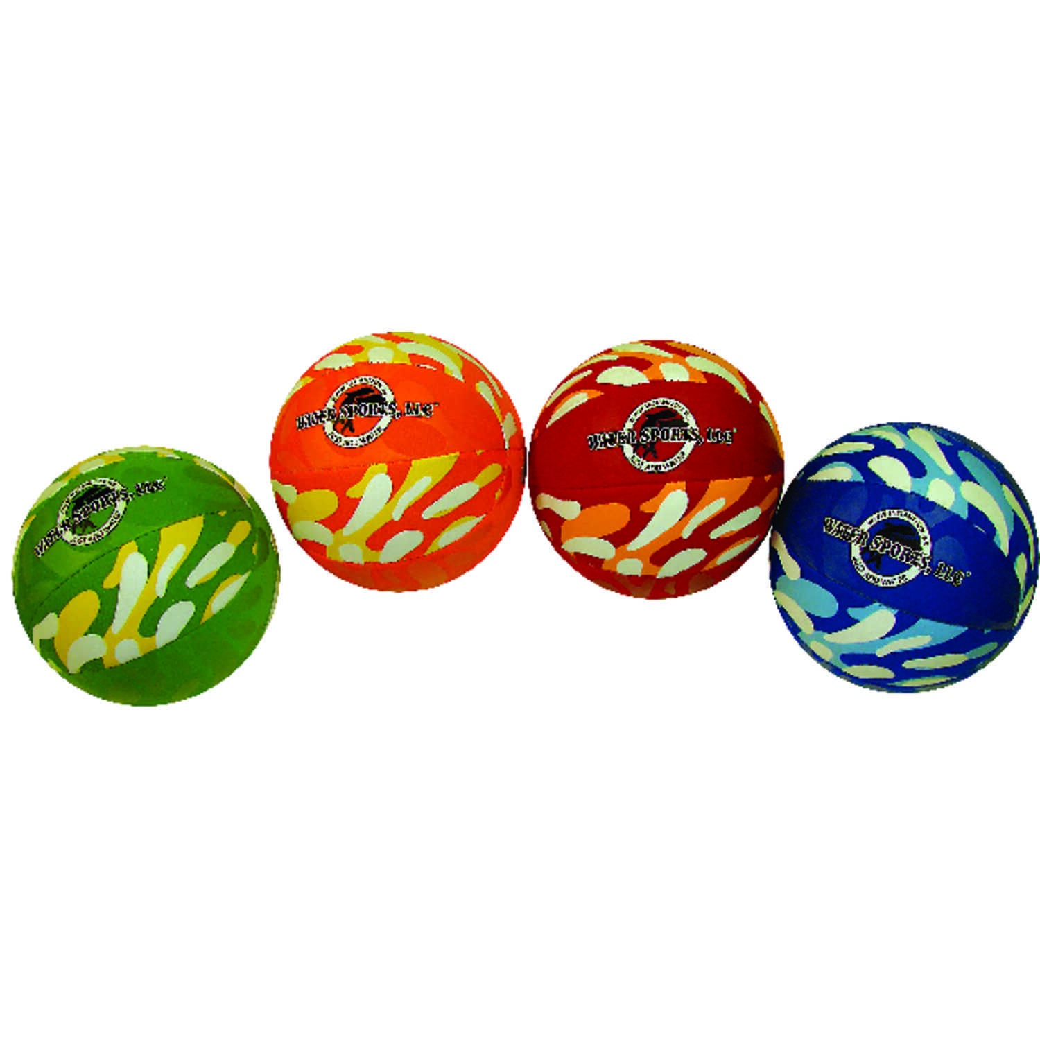Water Sports  Thermoplastic  Inflatable Multicolored  Football  6 in. H x 6 in. W x 6 in. L