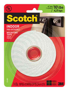 Scotch  1 in. W x 125 in. L x 125 in. L x 1 in. W Mounting Tape  White