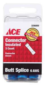 Ace  Butt Connector  6 AWG 3 pk