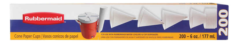 Rubbermaid  Cups  6 oz. White  200 count