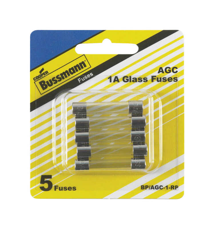 Bussmann  1 amps AGC  Mini Automotive Fuse  5 pk