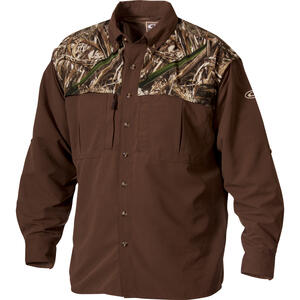 Drake  EST Wingshooter  XXL  Long Sleeve  Men's  Collared  Realtree Max-5 Two-Tone  Work Shirt