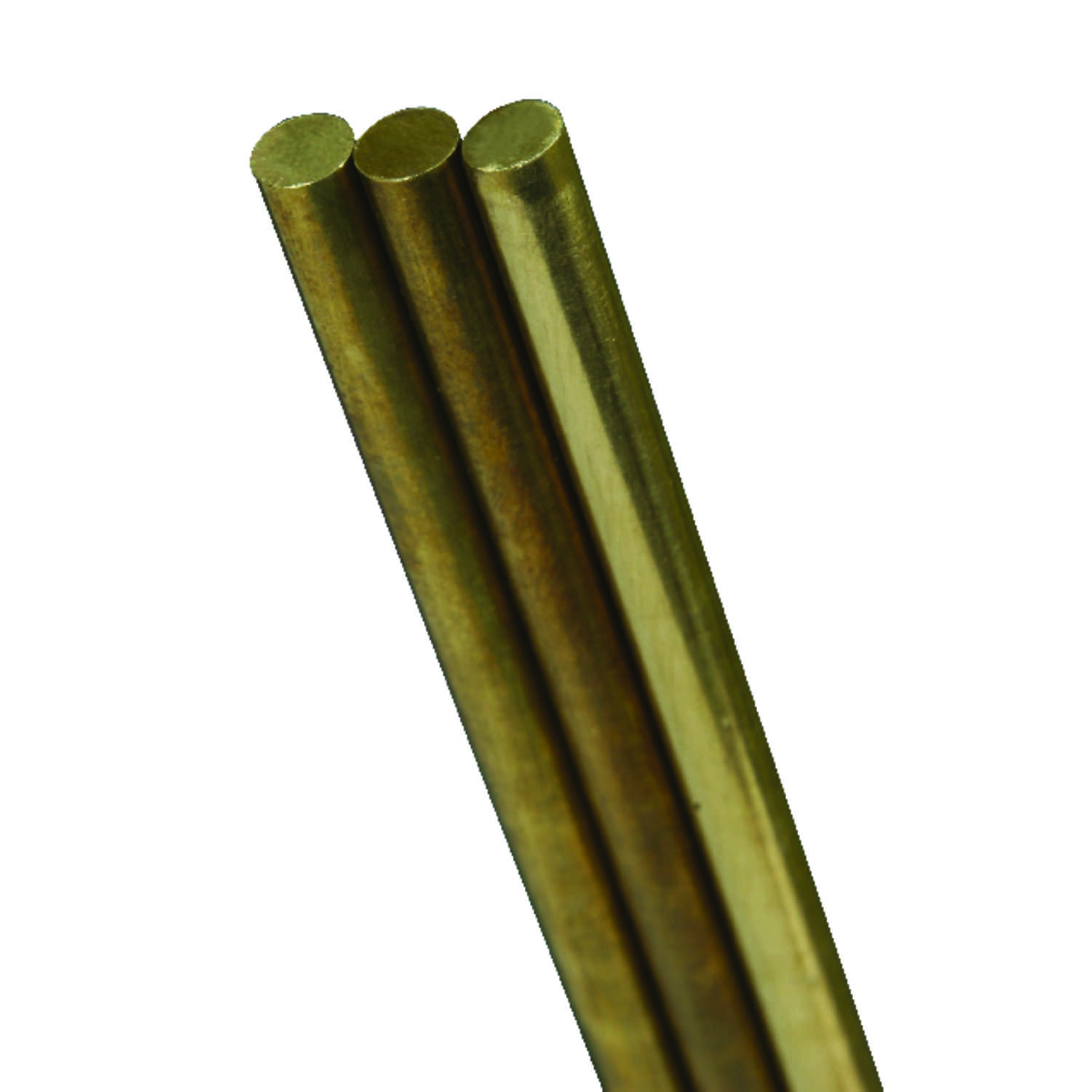 K&S 1/8 in. Dia. x 12 in. L Brass Rod 1 pk