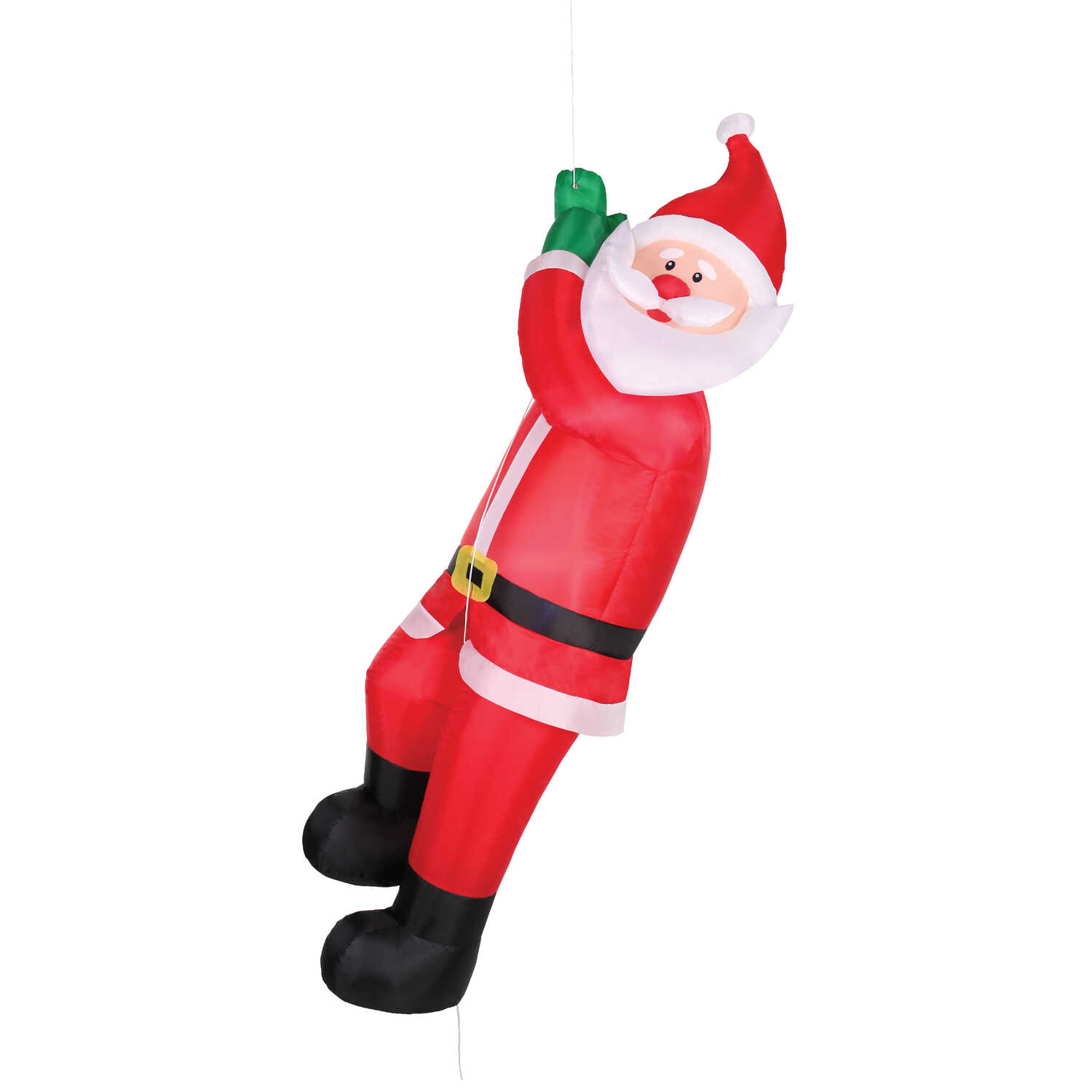 Occasions  Climbing Santa  Christmas Inflatable  Red/White  1 pk Polyester