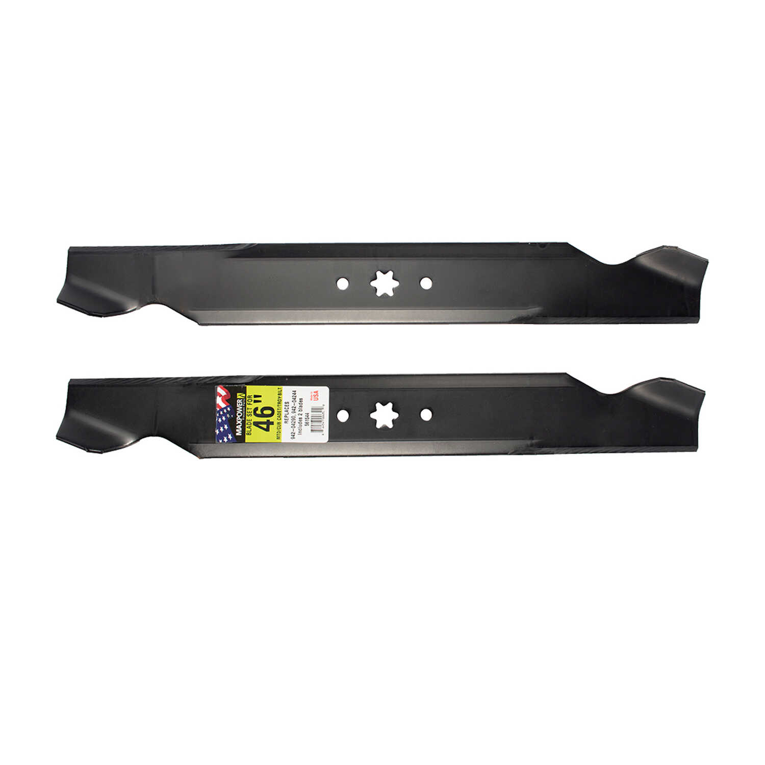 MaxPower  46 in. Standard  Mower Blade Set  For Riding Mowers 2 pk