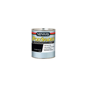 Minwax  PolyShades  Semi-Transparent  Gloss  Classic Black  Oil-Based  Stain  0.5 pt.
