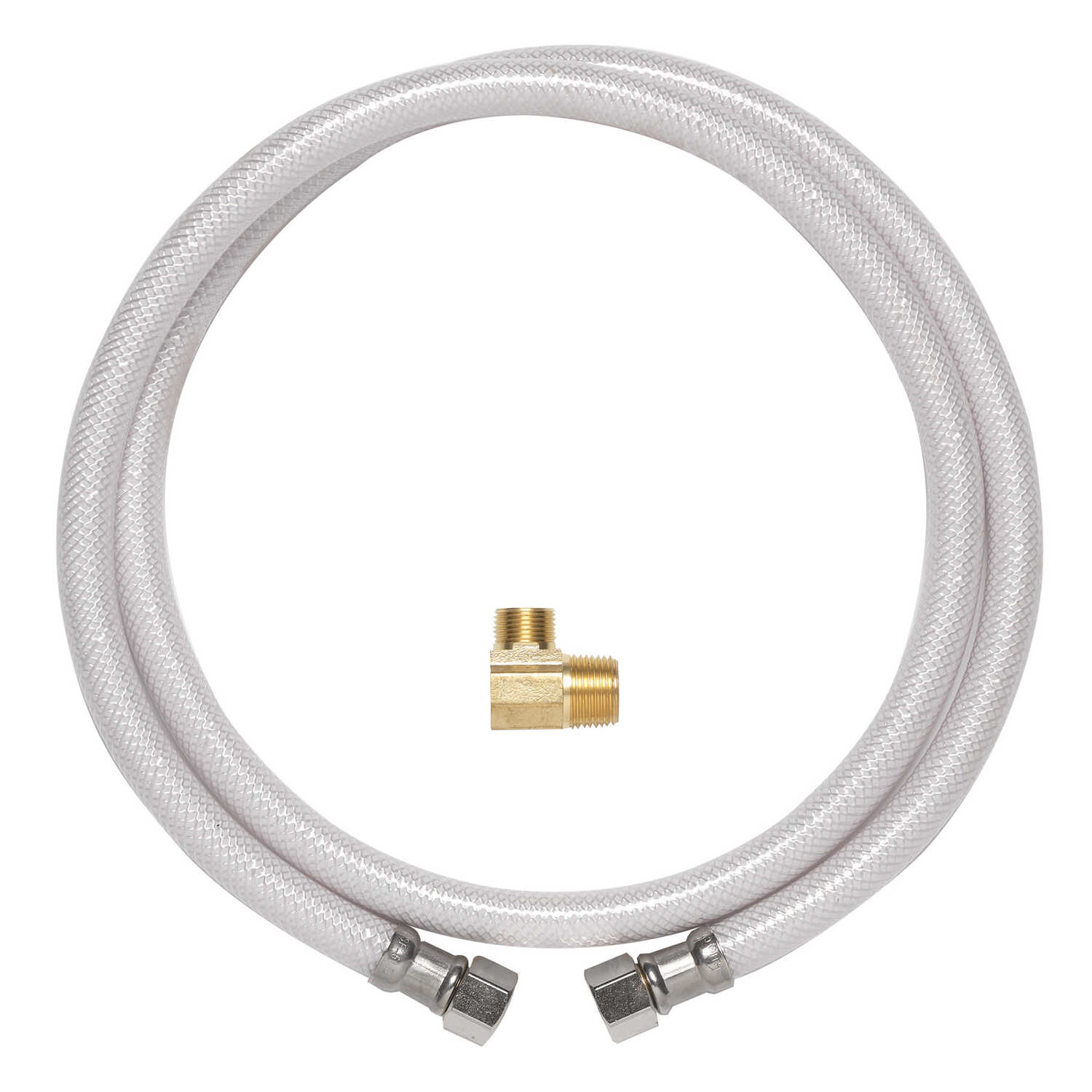 Ace  1/2 in. FIP   x 3/8 in. Dia. x 72 in. L MIP  PVC  Dishwasher  Supply Line