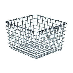Spectrum  8 in. H x 11-7/8 in. W x 13-3/4 in. L Silver  Locker Basket