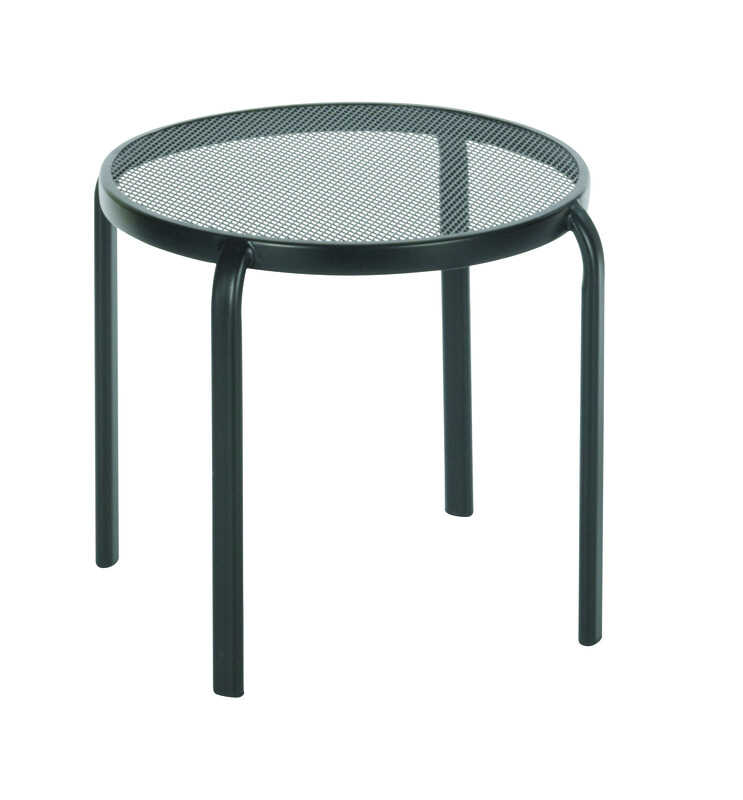 Living Accents  Black  Seville  Round  Table