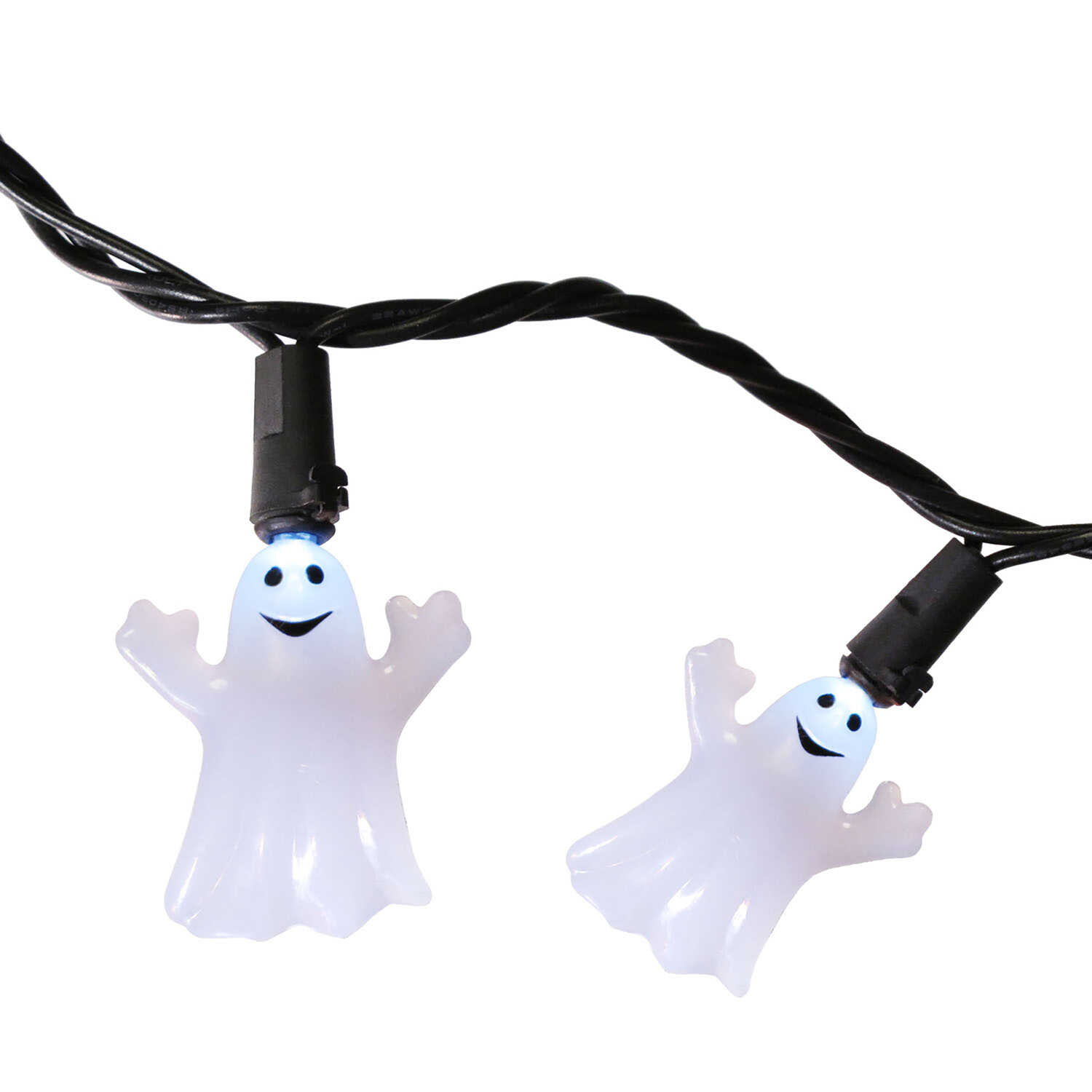 Celebrations  20 LED Ghost  Lighted Halloween Lights  1.5 in. H x 8.66 ft. W x 8.6 ft. L 1 pk