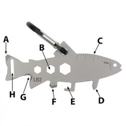 UST Brands  Tool A Long  Trout  Multi-Tool  Silver  1 pc.