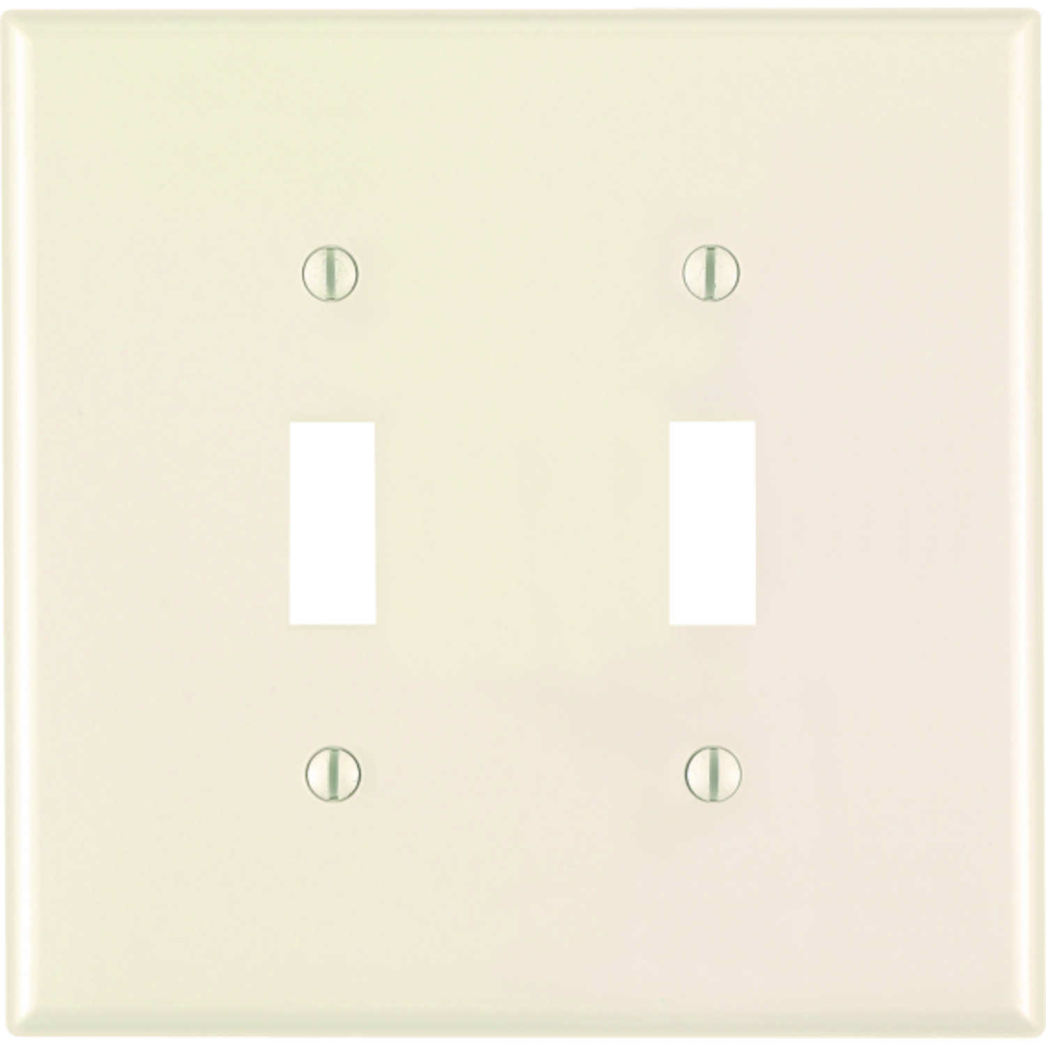 Leviton  Midway  Almond  2 gang Nylon  Toggle  Wall Plate  1 pk