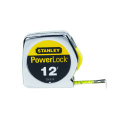 Stanley  PowerLock  12 ft. L x 0.5 in. W Tape Measure  Silver  1 pk