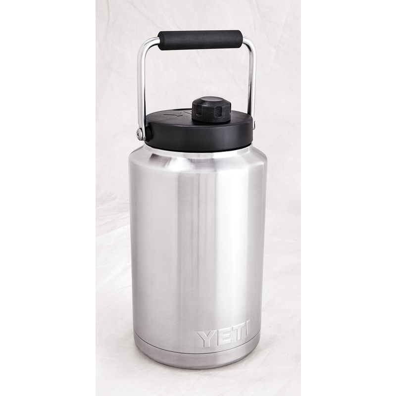 YETI  Rambler  Stainless  Insulated Bottle  Jug  1/2 gal. Stainless Steel  BPA Free