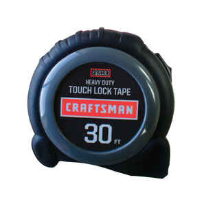 Craftsman  30 ft. L x 1 in. W Tape Measure  Blue  1 pk