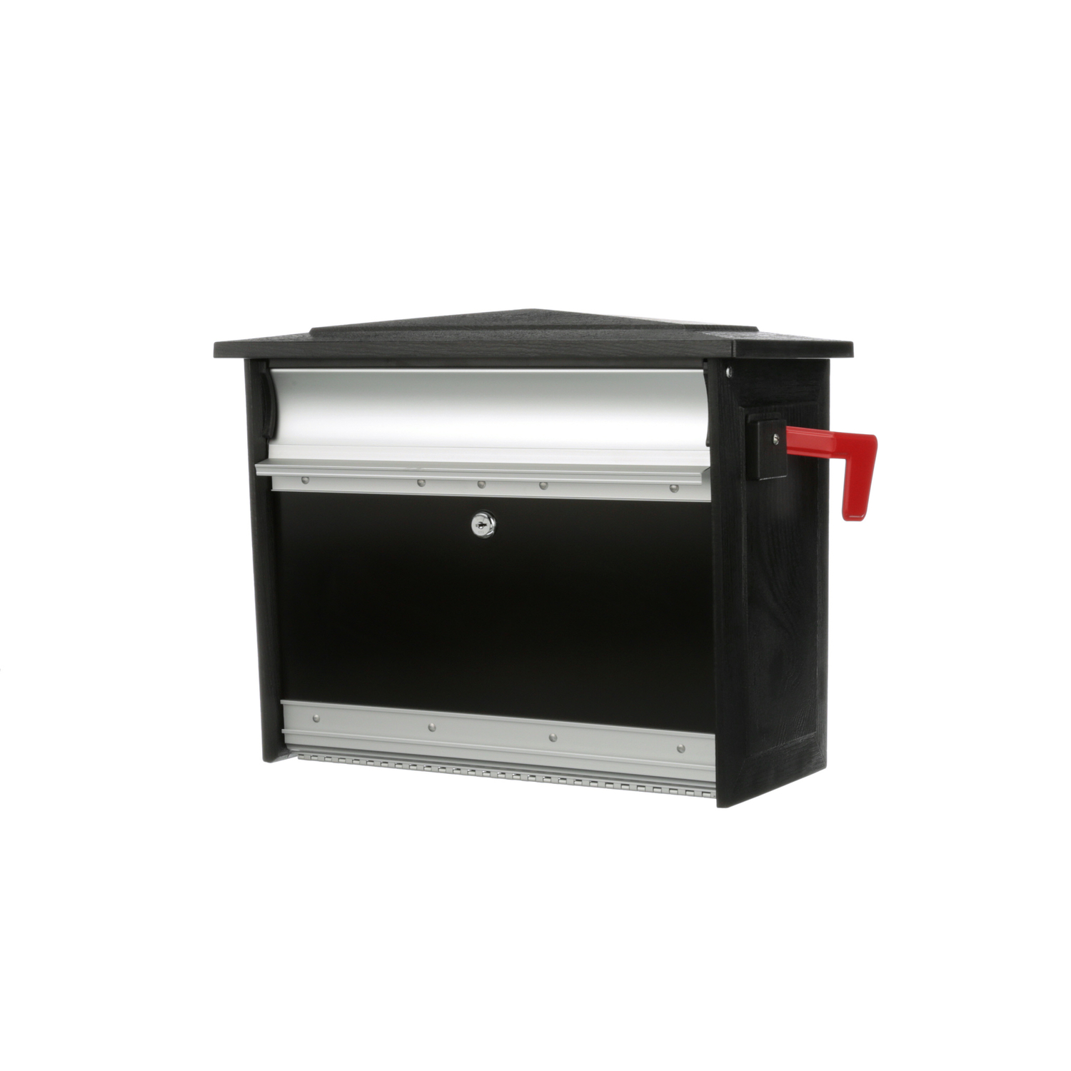 Gibraltar Mailboxes  Mailsafe  Steel  Black  Lockable Mailbox  16-7/8 in. L x 13-1/4 in. H x 16-7/8