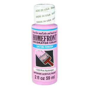 Homefront  Decorator Color  Satin  Acrylic Latex  Hobby Paint  2 oz. Pink Hydrangea