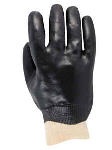 Handmaster  Men's  Indoor/Outdoor  Vinyl  Coated  Work Gloves  Black  One Size Fits All