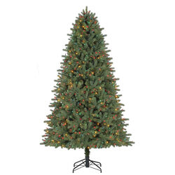 Celebrations  6-8 ft. Grand Fir  Prelit 600 count LED Artificial Tree