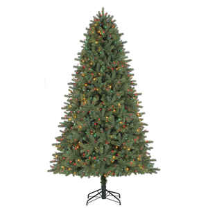 Celebrations  Color Changing  Prelit 7-1/2 ft. Grand Fir  LED Artificial Tree  600 lights 2193 tips