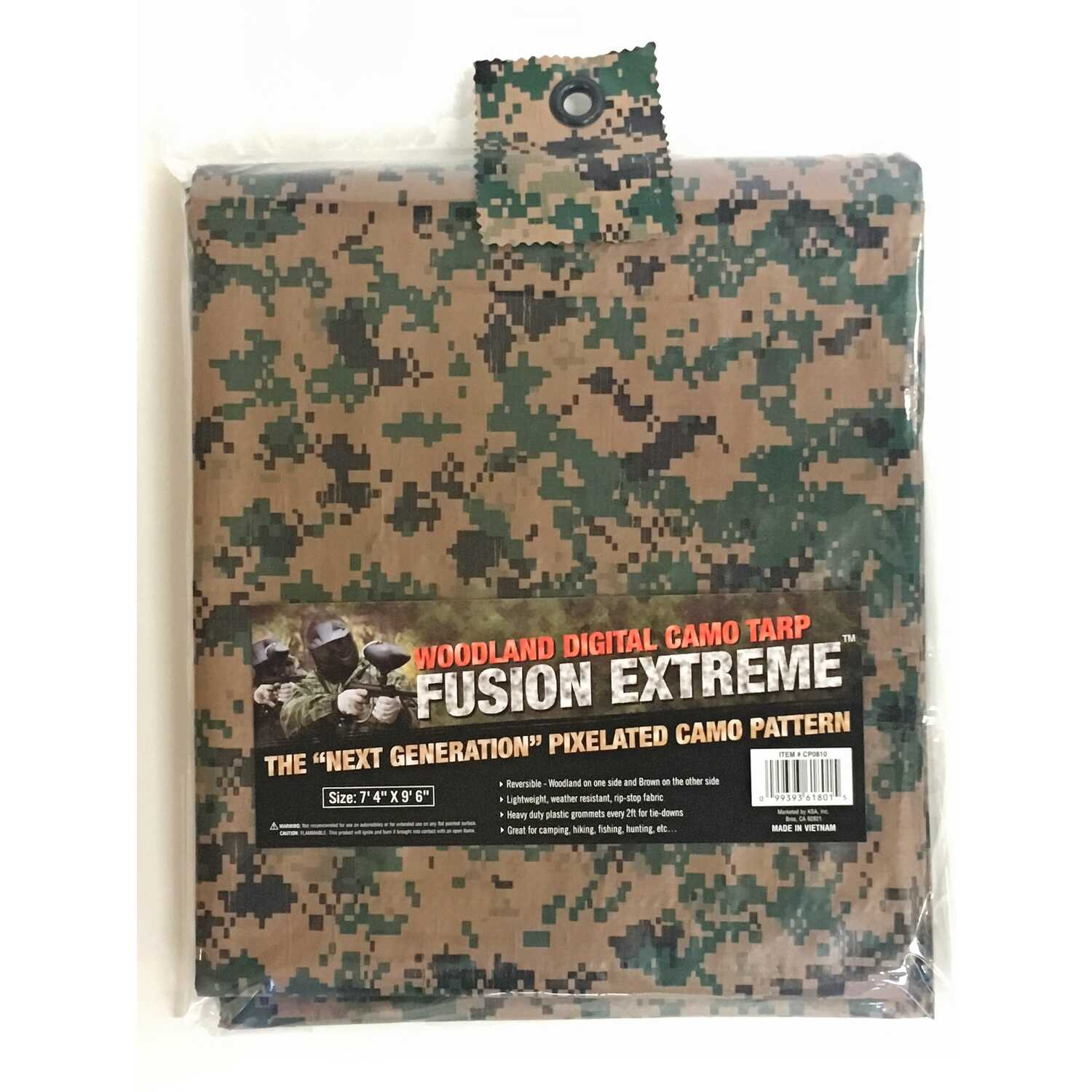 Fusion Extreme  8 ft. W x 10 ft. L Medium Duty  Polyethylene  Tarp  Digital Camouflage