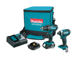 Makita  LXT  Cordless  2 tool Drill/Driver and Impact Driver Combo Kit  18 volt