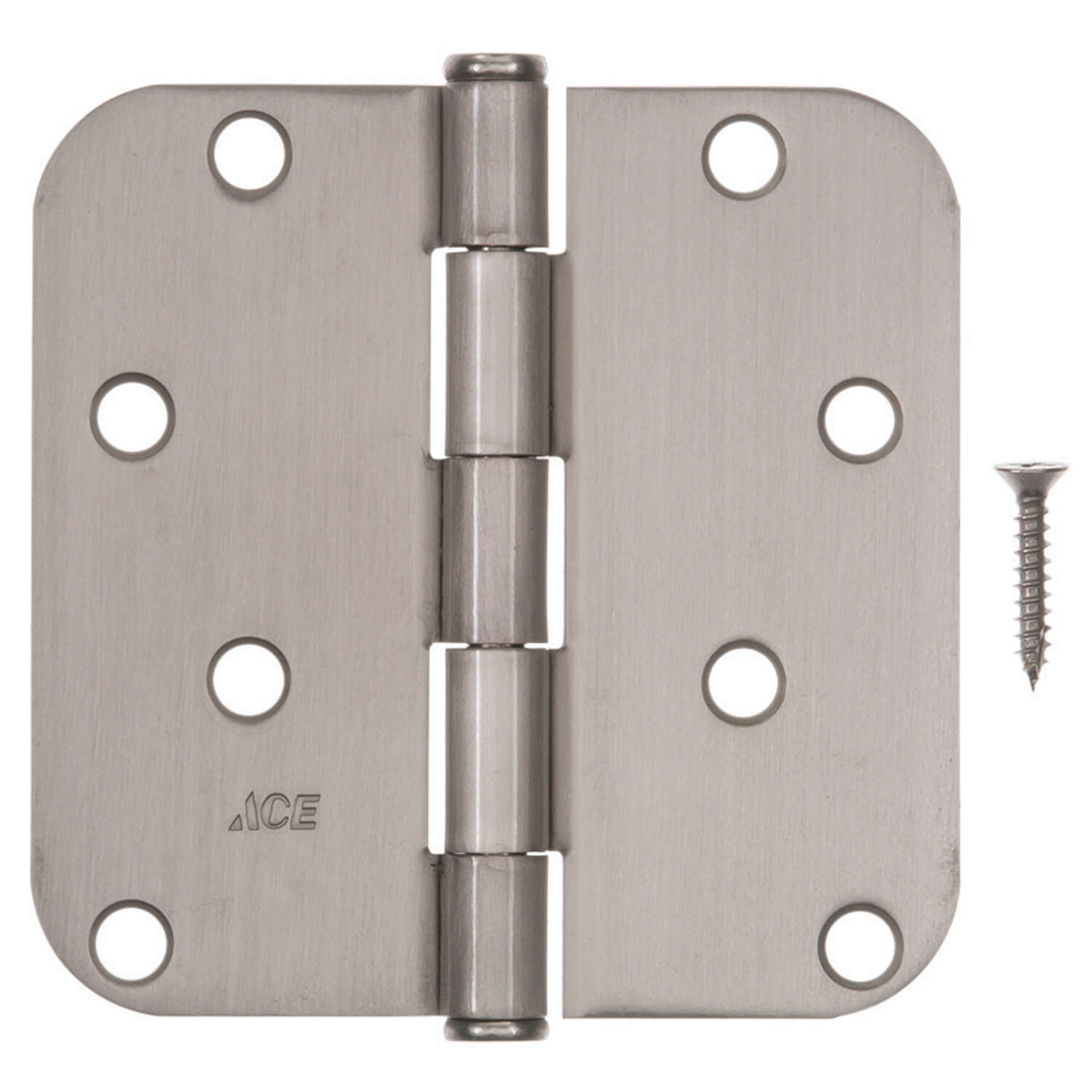 Ace  4 in. L Satin Nickel  Residential Door Hinge  3 pk