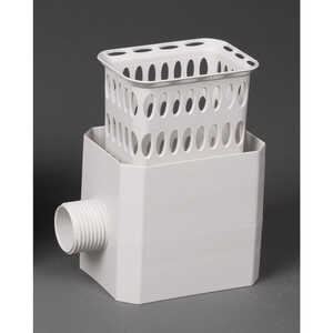 Catch-A-Raindrop  4.75 in. H x 2.53 in. L x 4.25 in. W White  Plastic  Rainwater Colander